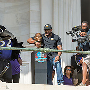 Baltimore celebrates Ravens LB Ray Lewis' induction into the Pro Football Hall of Fame