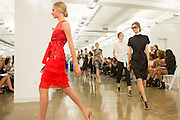 The finale of the Carmen Marc Valvo show at Spring 2013 Fashion Week in New York.