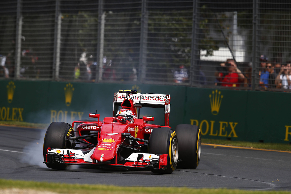 14.03.2015. Melbourne, Australia. F1 Grand Prix of Australia, qualification day at the Albert Park street circuit.  7 Kimi Raikkonen (FIN, Scuderia Ferrari)