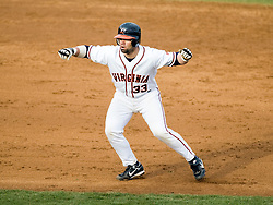 Virginia Cavaliers C Franco Valdes (33) leads off second base.  The #16 ranked Virginia Cavaliers baseball team defeated the Radford Highlanders 8-2 at the University of Virginia's Davenport Field in Charlottesville, VA on March 11, 2008.