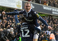 Football - 2018 / 2019 Emirates FA Cup - Sixth Round, Quarter Final : Millwall vs. Brighton<br /> <br /> Millwall players celebrate after scoring at The Den.<br /> <br /> COLORSPORT/DANIEL BEARHAM