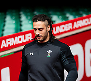 Josh Navidi of Wales<br /> <br /> Photographer Simon King/Replay Images<br /> <br /> Six Nations Round 3 - Captains Run - Wales v England - Saturday 22nd February 2019 - Principality Stadium - Cardiff<br /> <br /> World Copyright © Replay Images . All rights reserved. info@replayimages.co.uk - http://replayimages.co.uk