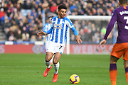 Juninho Bacuna of Huddersfield Town (7) in action during the Premier League match between Huddersfield Town and Manchester City at the John Smiths Stadium, Huddersfield, England on 20 January 2019.