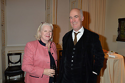 LONDON, ENGLAND 28 NOVEMBER 2016:  Dame Ros Savill and Charles Saumarez Smith at a reception to celebrate the publication of The Sovereign Artist by Christopher Le Brun and Wolf Burchard held at the Royal Academy of Art, Piccadilly, London, England. 28 November 2016.