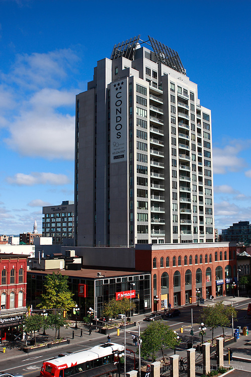 90 George condominium building in the Byward Market area in Ottawa, ON, Canada on September 25, 2009. Unsharpened TIF file. More info at http://90george.com.