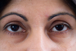 Close up of a pair of woman's eyes,