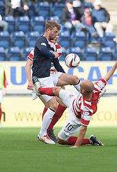 Falkirk's Rory Loy and Hamilton's Alex Neil.<br /> half time : Falkirk 0 v  0 Hamilton, Scottish Championship 31/8/2013.<br /> &copy;Michael Schofield.