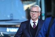 Crystal Place manager Alan Pardew arrives before the Premier League match between Swansea City and Crystal Palace at the Liberty Stadium, Swansea, Wales on 26 November 2016. Photo by Andrew Lewis.