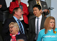 Cardiff City CEO Ken Choo (R) during the Sky Bet Championship match at the Pirelli Stadium, Burton upon Trent<br /> Picture by Mike Griffiths/Focus Images Ltd +44 7766 223933<br /> 05/08/2017