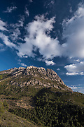 Puig Campana peak west face (1.410m), Finestrat,Costa Blanca, Alicante province, Spain, Europe