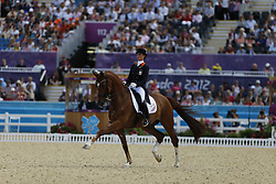 Cornelissen, Adelinde, Parzival<br /> London - Olympische Spiele 2012<br /> <br /> Dressur Grand Prix de Dressage<br /> © www.sportfotos-lafrentz.de/Stefan Lafrentz