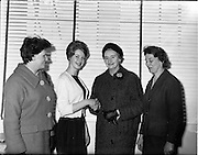 25/10/1960<br /> 10/25/1960<br /> 25 October 1960<br /> Miss Ireland, Miss Irene Ruth Kane, visits Glen Abbey Textiles in Tallaght in Dublin