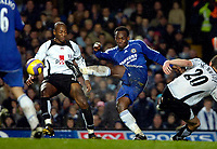 Photo: Ed Godden.<br />Chelsea v Fulham. The Barclays Premiership. 30/12/2006.<br />Chelsea's Michael Essien clears the ball from his area.