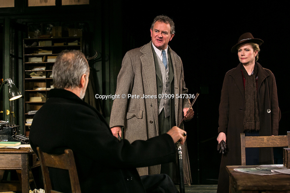 An Enemy of the People by Henrik Ibsen;<br /> Directed by Howard Davies;<br /> Hugh Bonneville as Dr Tomas Stockmann;<br /> William Gaminara as Peter Stockmann;<br /> Abigail Cruttenden as Mrs Stockmann;<br /> Chichester Festival Theatre, Chichester, UK;<br /> 29 April 2016