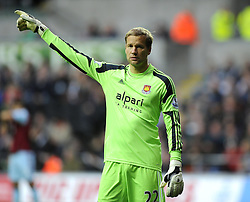 West Ham United's Jussi Jaaskelainen - Photo mandatory by-line: Joe Meredith/JMP - Tel: Mobile: 07966 386802 27/10/2013 - SPORT - FOOTBALL - Liberty Stadium - Swansea - Swansea City v West Ham United - Barclays Premier League