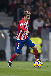 November 18, 2017 - Madrid, Madrid, Spain - Antonie Griezmann during the match between Atletico de Madrid and Real Madrid, week 12 of La Liga at Wanda Metropolitano stadium, Madrid, SPAIN - 18th November of 2017. (Credit Image: © Jose Breton/NurPhoto via ZUMA Press)