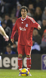 WIDNES, ENGLAND - Tuesday, February 17, 2009: Liverpool's Gerardo Bruna during the FA Premiership Reserves League (Northern Division) match against Everton at the Halton Stadium. (Mandatory credit: David Rawcliffe/Propaganda)
