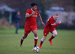 WOLVERHAMPTON, ENGLAND - Tuesday, December 19, 2017: Liverpool's Yasser Larouci during an Under-18 FA Premier League match between Wolverhampton Wanderers and Liverpool FC at the Sir Jack Hayward Training Ground. (Pic by David Rawcliffe/Propaganda)