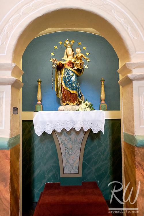 Religious Shrine Inside Church at Mission Santa Ines, Solvang, California