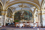 = the dining room  Empire of the hotel de Paris   Monaco  Monaco   /// La salle de restauration Empire de l'hotel de Paris  Monaco  Monaco  /// L0055509