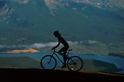 Woman Mountain Biker (MR), Summit County, Colorado