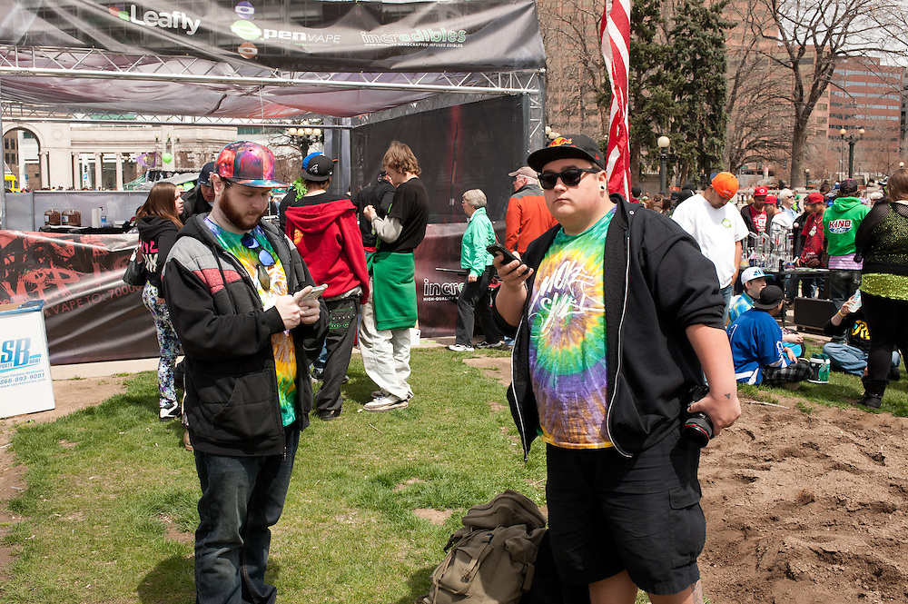 Spectators at the 4/20 event.