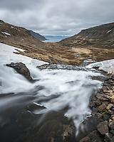 River Svíná running towards Dynjandisvogur, West fiords of Iceland.