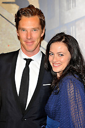 Benedict Cumberbatch & Lara Pulver at the  Crime Thriller Awards  in London, Thursday, 18th October 2012 Photo by: Chris Joseph / i-Images