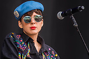 La Femme perform on the Obelisk Stage - The 2018 Latitude Festival, Henham Park. Suffolk 13 July 2018