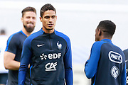 France's defender Raphael Varane takes part in a training of the team of France before the Friendly Game between France and England on June 12, 2017 at Stade de France in Saint-Denis, France - Photo Benjamin Cremel / ProSportsImages / DPPI