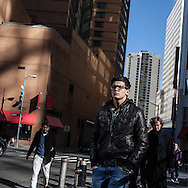 New York. urban life. Portrait of Pedestrians in the street /  Portraits  passants dans les rues de new york