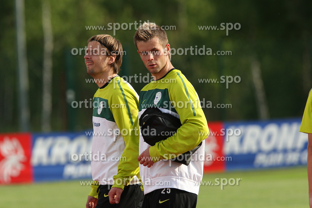 28/05/2010 FIFA World Cup 2010 Football Coupe du monde, Training Camp Slovenia - Brunico, Bruneck, Italy.  .© Photo Pierre Teyssot / Sportida.com. 28/05/2010, 2010 in Brunico, Bruneck, Italy.