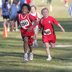 2008 October 28:  Participants run during a cross country event held on the campus of St. Thomas Aquinas.