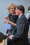 Eva Herzigova; Gregorio Marsiaj, The Vogue Festival 2012 in association with Vertu- cocktail party. Royal Geographical Society. Kensington Gore. London. SW7. 20 April 2012.