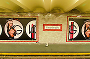 Alexanderplatz underground station, Berlin, Germany