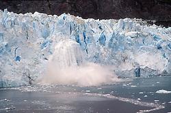 College Fjord, Prince William Sound: Harvard Glacier calving.