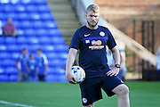 Peterborough manager Grant McCan watching the warm up before the Pre-Season Friendly match between Peterborough United and West Ham United at London Road, Peterborough, England on 19 July 2016. Photo by Nigel Cole.