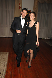 SARA BRAJOVIC and PRINCE CASIMIR ZU SAYN-WITTGENSTEIN-SAYN at a dinner hosted by the Italian Ambassador for the Buccellati family held at the Italian Embassy, Grosvenor Square, London on 28th March 2007.<br /><br />NON EXCLUSIVE - WORLD RIGHTS