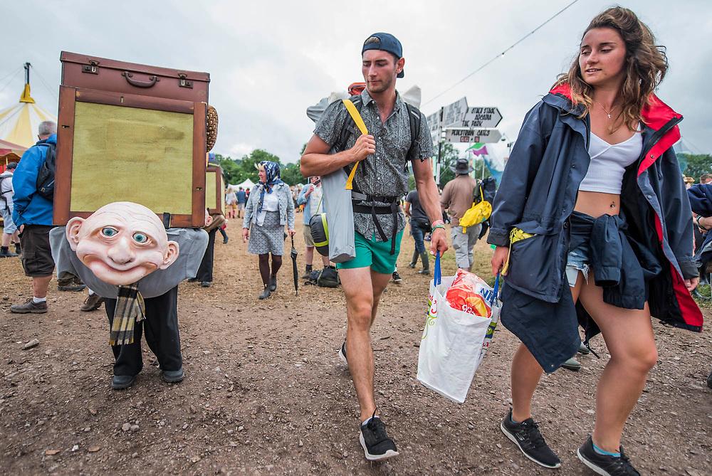 Many weird activities in teh circus field - The 2017 Glastonbury Festival, Worthy Farm. Glastonbury, 24 June 2017