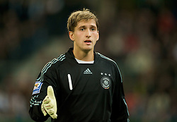 MONCHENGLADBACH, GERMANY - Wednesday, October 15, 2008: Germany's goalkeeper Rene Adler during the 2010 FIFA World Cup South Africa Qualifying Group 4 match against Wales at the Borussia-Park Stadium. (Photo by David Rawcliffe/Propaganda)