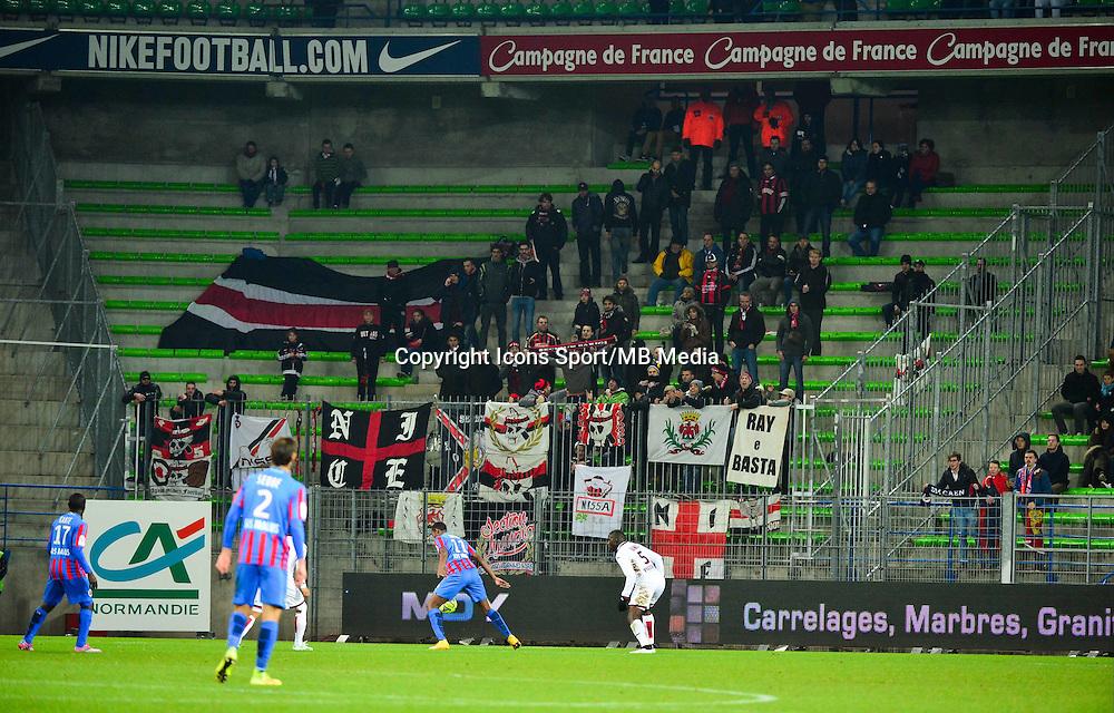 Supporters de Nice - 06.12.2014 - Caen / Nice - 17eme journee de Ligue 1 -<br />Photo : Dave Winter / Icon Sport