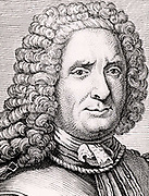 Benoit de Maillet (1656-1738) French diplomat and traveller. He attempted to measure the age of the earth and came to the somewhat arbitrary conclusion that it was 2 billion years. From 'Histoire des Philosophes Modernes' by Alexandre Saverien (Paris, 1762).