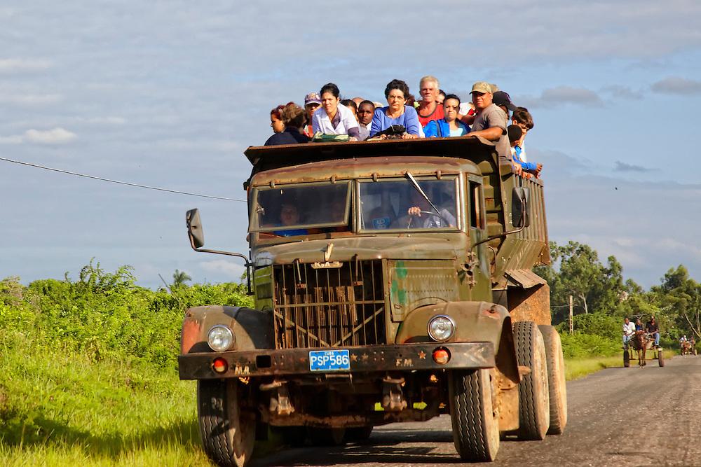Russian KrAZ in Mantua, Pinar del Rio, Cuba.