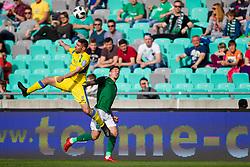 Jason Alan Davidson of NK Olimpija Ljubljana during football match between NK Olimpija Ljubljana and NK Domzale in Round #27 of Prva Liga Telekom Slovenije 2017/18, on April 14, 2018 in SRC Stozice, Ljubljana, Slovenia. Photo by Urban Urbanc / Sportida