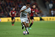 Marcus Rashford (19) of Manchester United on the attack during the Premier League match between Bournemouth and Manchester United at the Vitality Stadium, Bournemouth, England on 18 April 2018. Picture by Graham Hunt.