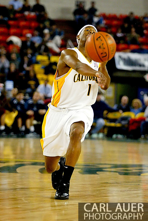11/25/2006 - Anchorage, Alaska: Senior guard Ayinde Ubaka (1) of the California Golden Bears in the California Golden Bears victory over LMU 78-70 to capture the championship title of the 2006 Great Alaska Shootout<br />