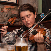 Siobhan Peoples playing a session in Fa Fa Considines Pub during the Ennis Trad Festival, 2014