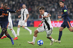 November 27, 2018 - Turin, Piedmont, Italy - Paulo Dybala (Juventus FC)  in action during the UEFA Champions League match between Juventus FC and Valencia CF, at Allianz Stadium on November 27, 2018 in Turin, Italy. .Juventus won 1-0 over Valencia. (Credit Image: © Massimiliano Ferraro/NurPhoto via ZUMA Press)