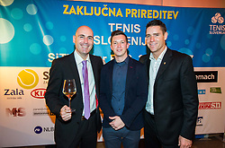 Ziga Ham Kacin, Ziga Koscak and Gregor Krusic of Tenis Slovenija during Slovenian Tennis personality of the year 2017 annual awards presented by Slovene Tennis Association Tenis Slovenija, on November 29, 2017 in Siti Teater, Ljubljana, Slovenia. Photo by Vid Ponikvar / Sportida