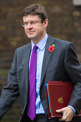 Downing Street, London, October 27th 2015.  Communities Secretary, Greg Clark arrives at 10 Downing Street to attend the weekly cabinet meeting. /// Licencing: Paul Davey tel: 07966016296 or 02089696875 paul@pauldaveycreative.co.uk www.pauldaveycreative.co.uk